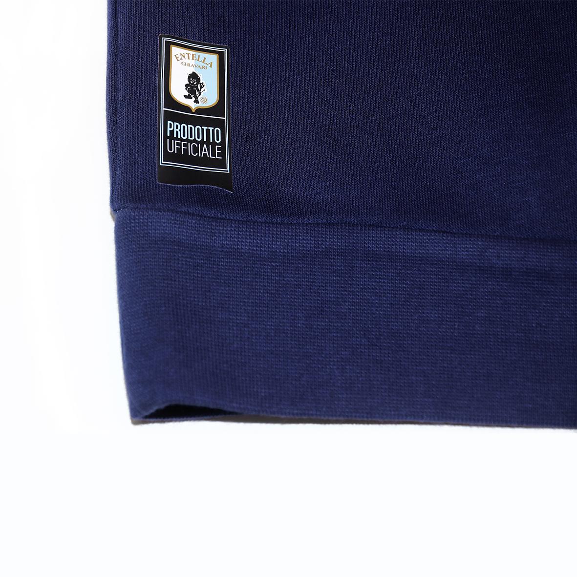 Felpa blu Adulto & Junior  con cappuccio no zip - Virtus Entella Store