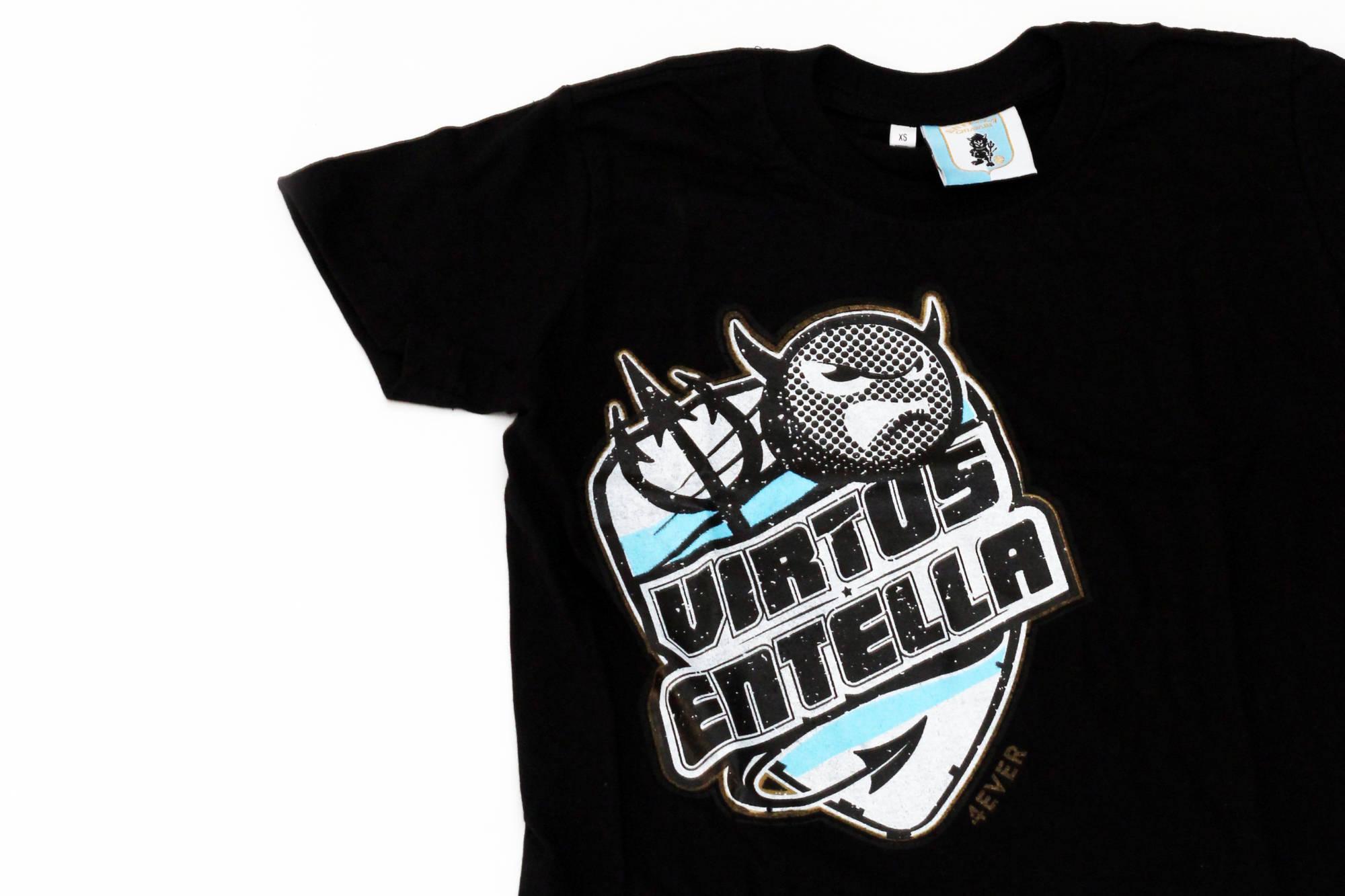 "T-SHIRT JUNIOR  ""BRL DEVIL SCUDO"" NERO - Virtus Entella Store"