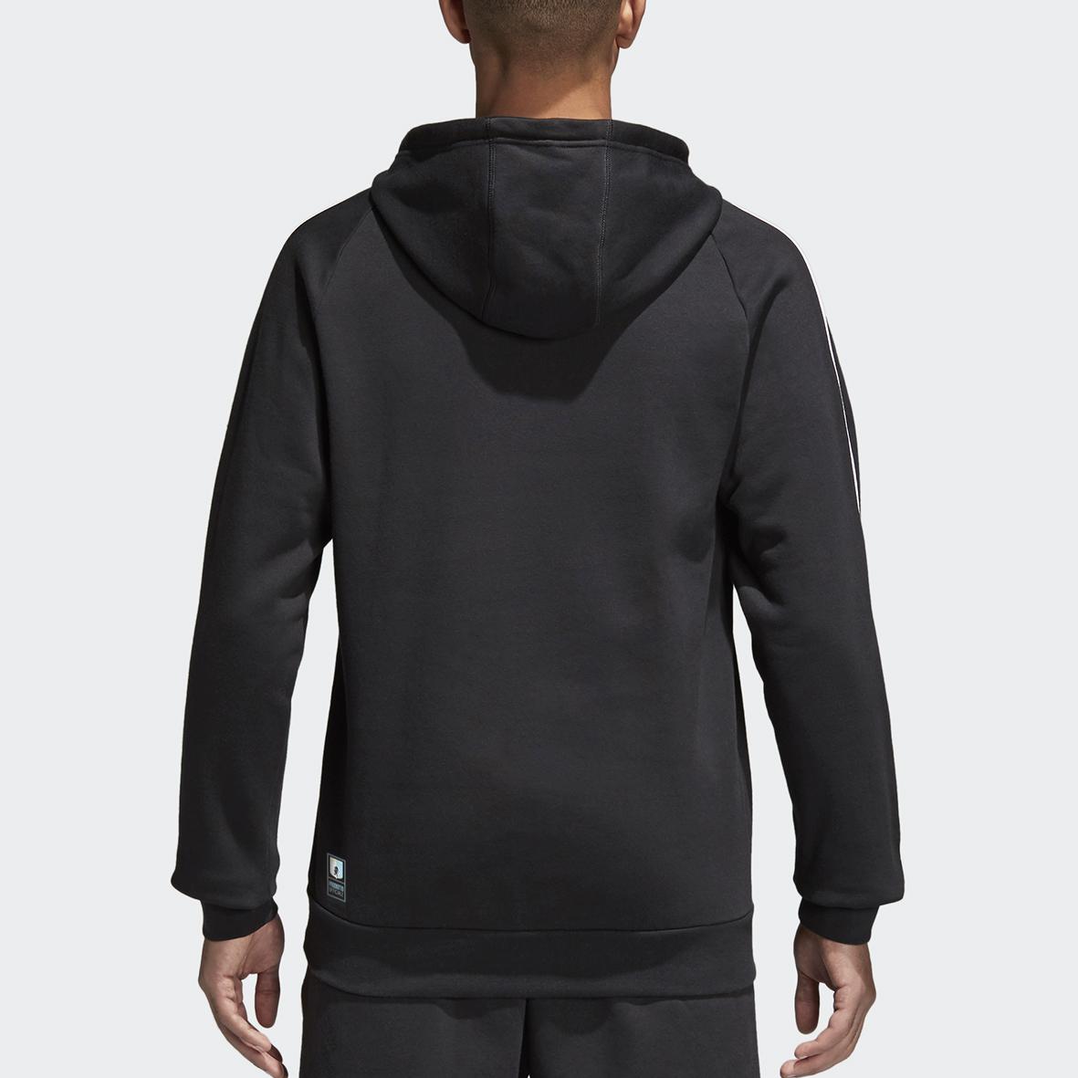 Felpa nera adulto & junior con cappuccio no zip - Virtus Entella Store