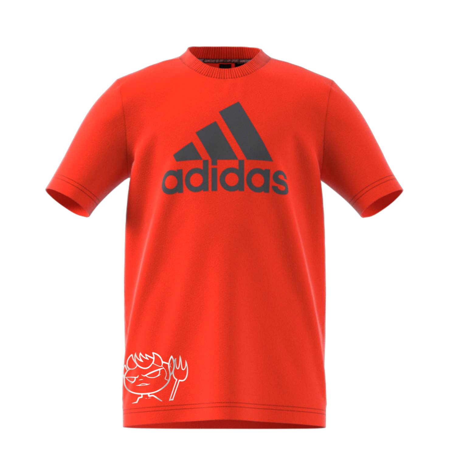 "T-SHIRT ADIDAS JUNIOR  ""LOGONE+DEVIL"" ORANGE - Virtus Entella Store"